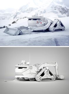 The massive mountain motor-truck you're looking at is the work of Encho Enchev. Designed to absolutely dominate the mountain landscape, this snowmobile looks so incredibly badass, we almost feel sorry for the snow!