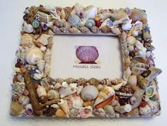 Seashell and Driftwood Mosaic Frame by MosaicSeas on Etsy, $59.00