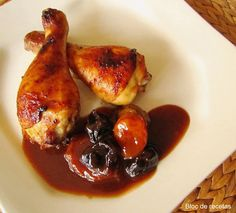Bloc de recetas: Pollo asado con ciruelas