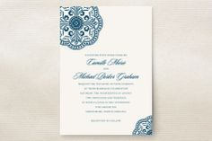 Ornamental Wedding Invitations by Paperview Designs at minted.com