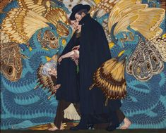 Edward Okuń, We and the War (cropped), National Museum in Warsaw. Photo National Museum in Warsaw Art And Illustration, Art Nouveau, Digital Museum, Amazing Paintings, Alphonse Mucha, Exhibition, National Museum, Art History, Collages