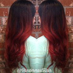 Red ombre by me! #redombre