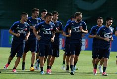 Italy team players in action during the training session at Coverciano at Coverciano on May 30, 2017 in Florence, Italy.
