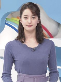 An announcer of the Nihon TV Staring At You, Cute Asian Girls, Girls Generation, Female Bodies, Idol, V Neck, Stars, Lady, Beautiful