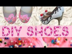 DIY shoe bakery shoes! I LOVE the shoebakery.com shoes and would totally pay for their shoes but none of them come in my size :(