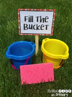 Ever try Drip, Drip, Drop? How about Fill the Bucket? Get great field day ideas that are a cinch to throw together!