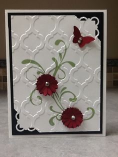 Another beauty using the Textured Embossing Folder MOSAIC MADNESS #129984 $7.95. This time it resembles a flower trellis. Inspired by...