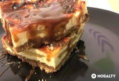 Karamellás-almás sajttortaszelet Cheesecakes, Lasagna, Food And Drink, Pie, Sweets, Cookies, Baking, Ethnic Recipes, Minden