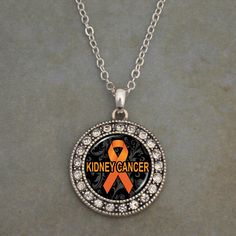 Kidney Cancer Awareness Necklace, $9.98 // Help support the Cause, Help find a Cure! 30% of the profits go to the American Cancer Society.//