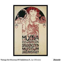 Copie vintage d'affiche d'exposition de Nouveau NY Poster
