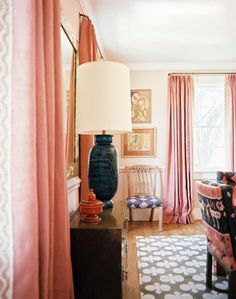 Curtains hung at ceiling and not top of window. Length to floor. This widens a room and gives so much more depth! ***where to hang curtains***