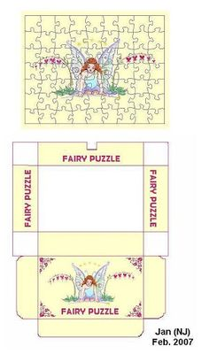 Fairy jigsaw puzzle in miniature. Should be easily scaled. Doll House Crafts, Doll Crafts, Miniature Crafts, Miniature Dolls, Paper Toys, Paper Crafts, Barbie Miniatures, Dollhouse Toys, Creations