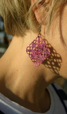 DIY: earrings - Don't just repin...go check out the weblink...very cool ideas and beautiful earrings!!
