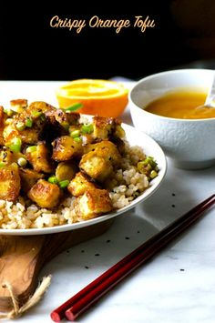 Crispy Orange Tofu is a favorite easy weeknight meal at our house!