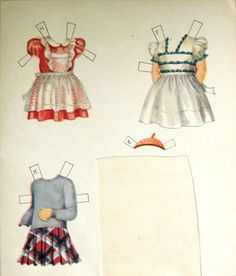 REALLY TRULY PAPER DOLLS Vintage 1943, 4 Books: Saulfield - Uncut and from designer69 on Ruby Lane