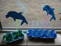 De mooiste vis van de zee / Marc School Projects, Projects To Try, Ocean Unit, Sea And Ocean, Under The Sea, Dolphins, Mammals, Kindergarten, Crafts For Kids