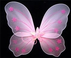 Pink Sequin Star Wings Perfect Girls Fairy Princess or Butterfly Costume Wings by Lil Princess. $6.95. These stunning butterfly wings are a winner every time. The pink elastic straps fit comfortable around the shoulders. Fits all ages from approx 3 years old to teen. Perfect for fairy princess costumes, dress-up, picture props and great fun! Beautiful pink color. Gorgeous quality.