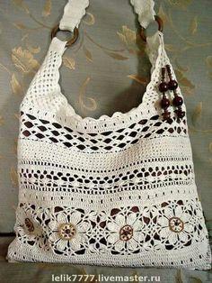 Free Crochet Bag Patterns Part 17 - Beautiful Crochet Patterns and Knitting Patterns Crotchet Bags, Bag Crochet, Crochet Shell Stitch, Crochet Handbags, Crochet Purses, Knitted Bags, Crochet Crafts, Crochet Stitches, Free Crochet