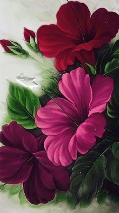 Hibiscus Flower Drawing, Hibiscus Flowers, Exotic Flowers, Watercolor Flowers, Flower Art, Beautiful Flowers, Hibiscus Plant, Hibiscus Bush, Hibiscus Garden