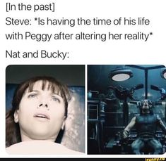 I think that Steve went back to save his friends as much as he could. Maybe he couldn't save Bucky, but he could be sure the right people found Natasha Funny Marvel Memes, Dc Memes, Marvel Jokes, Avengers Memes, Disney Marvel, Marvel Dc Comics, Marvel Avengers, Bucky And Natasha, Funny Memes