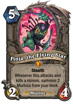 Finja, the Flying Star - Hearthstone Cards Harrison Jones, Board Game Design, Deck Builders, Post Quotes, Summoning, Minions, Board Games, Cards, Star