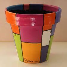 Painted Clay Pots, Painted Flower Pots, Hand Painted Ceramics, Ceramic Pots, Terracotta Pots, Pottery Painting, Diy Painting, Yard Art Crafts, Pottery Pots