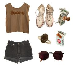 """""""Untitled #33"""" by itskoda on Polyvore featuring Dorothy Perkins, Levi's, Converse and Ray-Ban"""