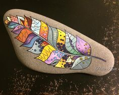 """32 Likes, 9 Comments - Trine ➰ (@__misspixie__) on Instagram: """"It still rock(s) #rockpainting #paintrocks #stonepainting #paintedrocks #doodle #hobby #relax…"""""""
