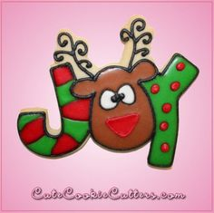 Our Pink Reindeer Joy cookie cutters are approximately inches tall, 4 inches wide, inch deep and made out of pink plastic. Cleaning instructions: h. Cheap Cookie Cutters, Custom Cookie Cutters, Christmas Cookie Cutters, Custom Cookies, Christmas Rock, Christmas Goodies, Christmas Ideas, Christmas Cards, Christmas Animals