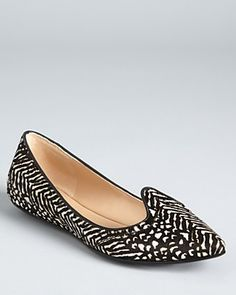 Belle by Sigerson Morrison Flats - Pointy Toe Smoking
