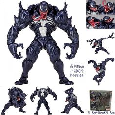 Kaiyodo Amazing Spider-Man Yamaguchi No.003 VENOM Action Figure Toy Doll Model #wellwong