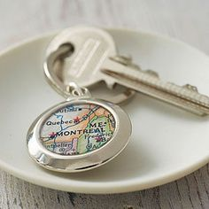 Personalised Map Key Ring - gifts for him