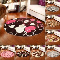 100x100cm Coral Velvet Bathroom Absorbent Carpet Anti Slip Doorsill Round Mat Rug - Newchic
