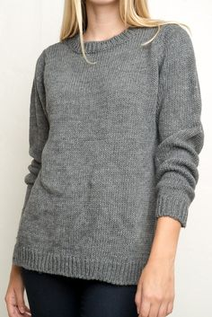 Brandy ♥ Melville | Mariana Knit - This is also cute! You cant go wrong with grey