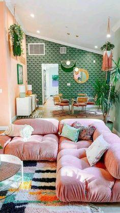 Dream Home Design, House Design, Casa Retro, Deco Studio, Aesthetic Room Decor, Dream Rooms, My New Room, House Rooms, Home Decor Inspiration