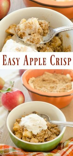 Have you ever decided to swap out the traditional pie plate for individual sized baking dishes? I picked up these amazing baking dishes from HomeGoods (sponsored) and served this delicious Apple Crisp recipe for dessert. Everyone was so excited over their