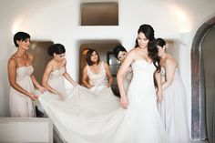 Destination wedding in Santorini, Greece by Wedding Planners Stella & Moscha, and Photographer Michael Renga