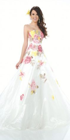 Breathtaking Print Ball Gown 116560