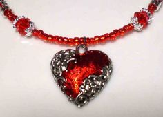 Red Hearts by Roxanne on Etsy