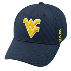 West Virginia Mountaineers NCAA Booster Plus Embroidered Hat Cap TOW 025517