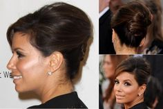 Eva Longoria - Best, celebrity, updo, updos, up, do, hair, hairstyle, hairstyles, hairdos, a-list, inspiration, red carpet, party, wedding, bun, plait, beauty, Marie Claire