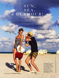 Sun, Sea, Glamour!: Rudi Ovchinnikova in Miami by Pamela Hanson for Glamour UK May 2013