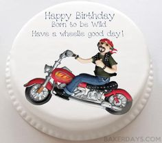Personalised Cakes For All Occasions - Baker Days Motorbike Cake - The Perfect Birthday Cake For All Bikers
