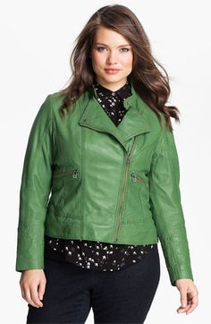 Bernardo Leather Moto Jacket (Plus)(Exclusive to Nordstrom) available at Nordstrom