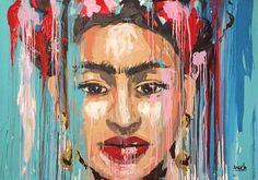 Expressionism painting by @Angela Correa #Art #paint #Expressionism #protrait #Frida