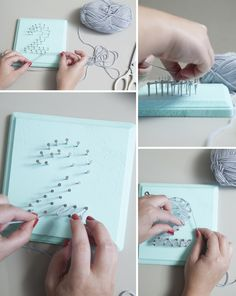 This is the easiest way to create your own string art, guarenteed. Awesome gift idea!