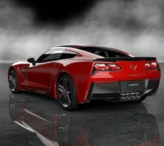Candy Red Corvette