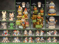 Page 122 Muñecos de Nieve Varios modelos. Clay Magic Inc