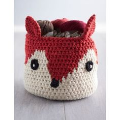Foxy Stash Basket in Lily Sugar 'n Cream Solids. Discover more Patterns by Lily Sugar 'n Cream at LoveKnitting. The world's largest range of knitting supplies - we stock patterns, yarn, needles and books from all of your favourite brands.