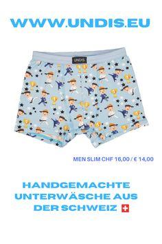 UNDIS www.undis.eu Bunte, lustige und witzige Boxershorts & Unterwäsche für Männer, Frauen und Kinder. Ein tolles Geschenk für den Vatertag, Muttertag oder Geburtstag! Partnerlook für Herren, Damen und Kinder. online bestellen unter www.undis.eu #geschenkideenfürkinder #geschenkefürkinder #geschenkset #geschenkideenfürfrauen #geschenkefürmänner #geschenkbox #geschenkidee #shopping #familie #diy #gift #children #sewing #handmade #männerboxershorts #damenunterwäsche #schweiz #österreich #undis Funny Underwear, Underwear Men, Karate, Trunks, Swimming, Swimwear, Kids, Fashion, Sew Gifts